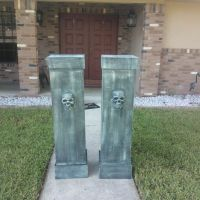 Cemetery Columns From Scrap Wood