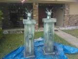 New Cemetery Entrance Columns WIP
