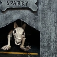 Graveyard Dog Animated Halloween Prop