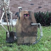 Animated Coffin Creep Halloween Prop